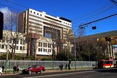 全国代表大会大厦在瓦尔帕莱索,智利 库存照片