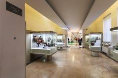 全国Etruscan博物馆内部在罗马市 免版税库存照片
