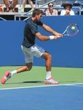 全垒打冠军和职业网球球员胡安马丁台尔Potro为美国公开赛实践2013年 免版税库存照片