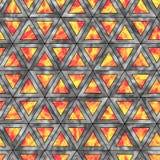 全息照相的三角的创造性的无缝的样式水平 免版税库存照片