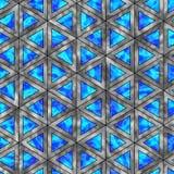 全息照相的三角的创造性的无缝的样式 免版税库存照片
