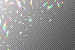 全息照相的背景 飞行彩虹箔 与金属反射作用的光亮的闪烁的传染媒介纹理 向量例证
