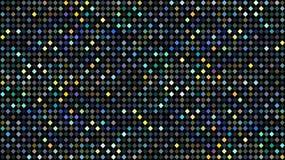 全息照相的蓝绿色黄色小点马赛克样式 抽象闪烁迪斯科背景 皇族释放例证