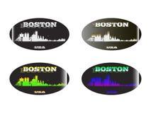 全息照相的贴纸波士顿 库存照片