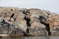 全新世纪的地震活动标记在白海 免版税库存图片