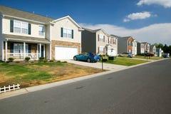 全新的住房开发 免版税库存照片