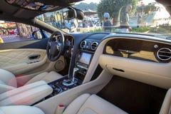 全新的豪华supercar内部 免版税图库摄影
