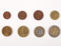 全方位欧洲的硬币 免版税库存图片