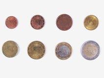全方位欧洲的硬币 库存照片