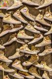 全明星穿上鞋子艺术 库存图片