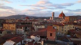 全景佛罗伦萨的日落 股票视频