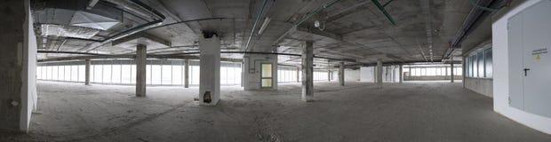 全景内部建设中 免版税库存照片