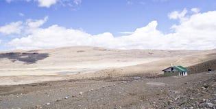 全景冷的沙漠在北部锡金 库存图片