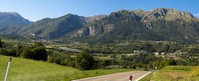 全景北部意大利 库存图片