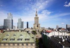 全景华沙市,波兰 免版税库存图片
