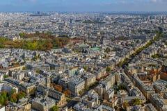 全景和巴黎鸟瞰图  免版税库存图片