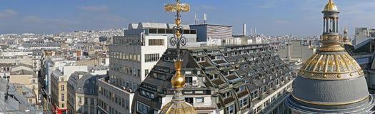 全景和鸟瞰图从商店Printemps, Pa大阳台  免版税库存照片