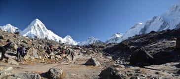 全景喜马拉雅山横向 免版税图库摄影