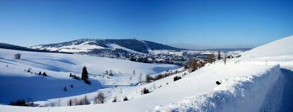 田园诗Erzgebirge在德国 库存图片