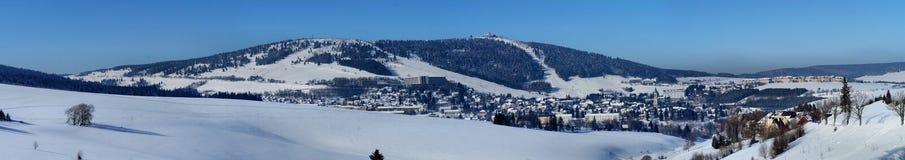 Oberwiesenthal在冬天 免版税库存照片