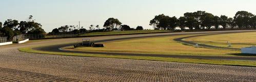 全景在菲利普岛赛马跑道的轮11和12 免版税库存照片