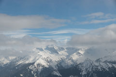 全景在阿尔卑斯 免版税图库摄影