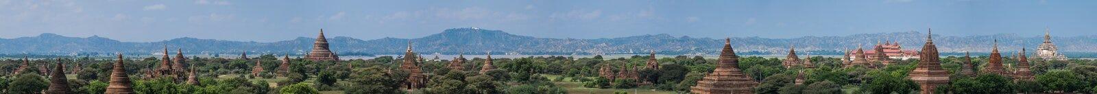 全景塔在Bagan 免版税库存图片