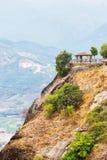 全景大阳台在迈泰奥拉希腊 库存照片
