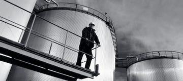全景天然气产业的油 免版税库存图片