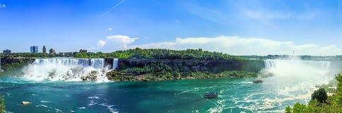 全景尼亚加拉瀑布 库存照片