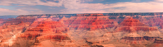 全景峡谷全部的横向 库存照片