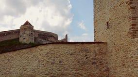 全景批评在Rasnov城堡,一罗马尼亚` s多数被参观的城堡 股票录像