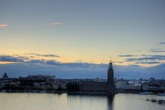 全景斯德哥尔摩视图 免版税库存图片