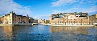 全景斯德哥尔摩 免版税图库摄影
