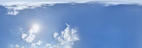 全景无缝的天空 360度 免版税库存图片