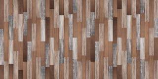 全景木纹理背景,无缝的木地板 库存图片
