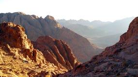 全景沙漠山 免版税库存照片