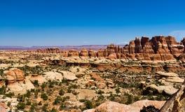 全景沙漠峡谷风景 库存照片