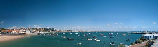 全景海滩在卡斯卡伊斯 免版税库存照片