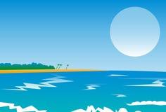 全景海滩 免版税库存图片