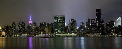 全景照片曼哈顿 库存照片