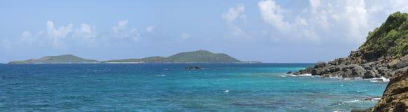 全景的加勒比岛 库存图片