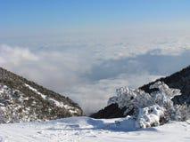 全景的山 库存照片