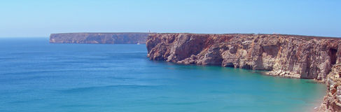 全景的海岸线 库存照片