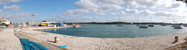 全景的海湾 免版税库存图片