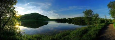 全景的湖 库存图片