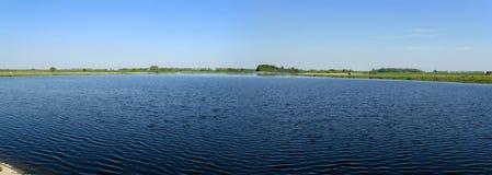 全景的湖 免版税图库摄影