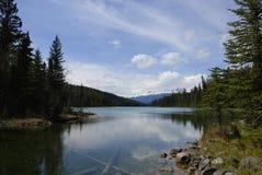 全景的湖 免版税库存照片