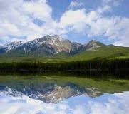 全景的湖 免版税库存图片