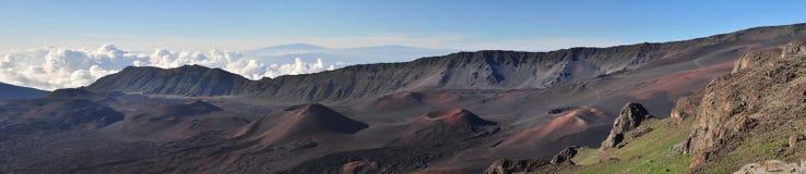 全景的火山 库存图片